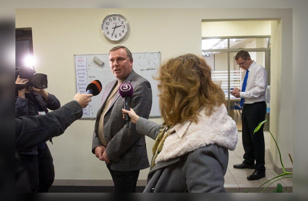 Justiitsminister Kristen Michal ja riigikogu liige Kalev Lillo Reformierakonna büroos