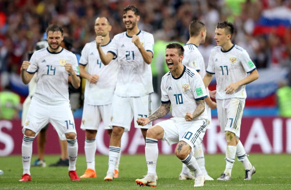 BLOGI | Uskumatu! Venemaa jalgpallikoondis alistas penaltitega Hispaania ning sammub kodusel turniiril veerandfinaali!