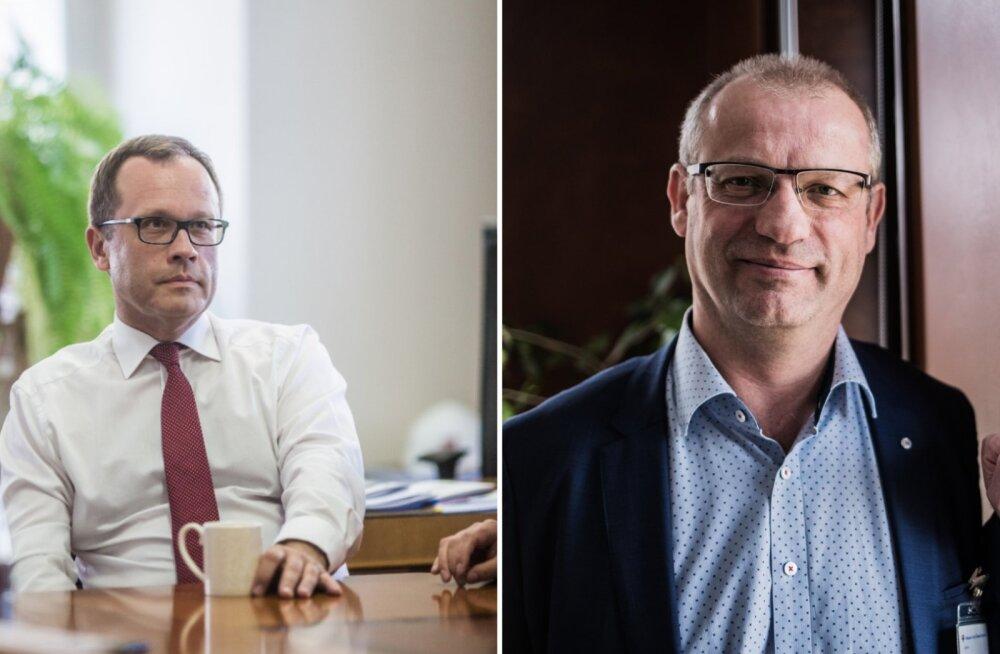 Tartu linnapea Urmas Klaas ja SA Tartu ülikooli kliinikumi juht Priit Eelmäe.