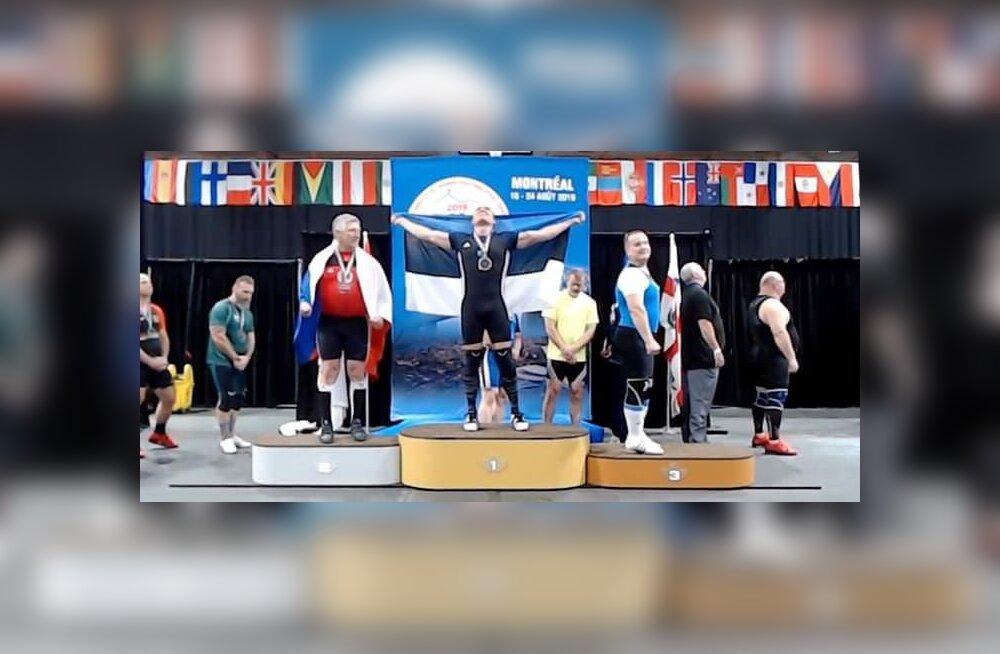 Eesti tõstjad teenisid veteranide MM-ilt kaks kulda