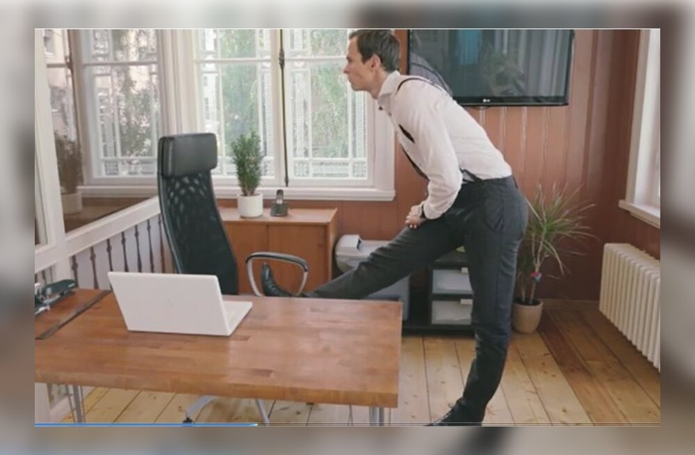 VIDEO: Kuidas kontoris alaselga ja tuharaid pingest vabastada?