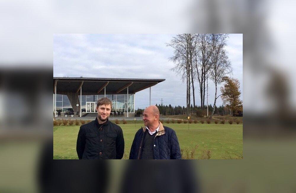 Suuresta golfiväljaku uued omanikud Kristo Tullus (vasakul) ja Indrek Kuivallik