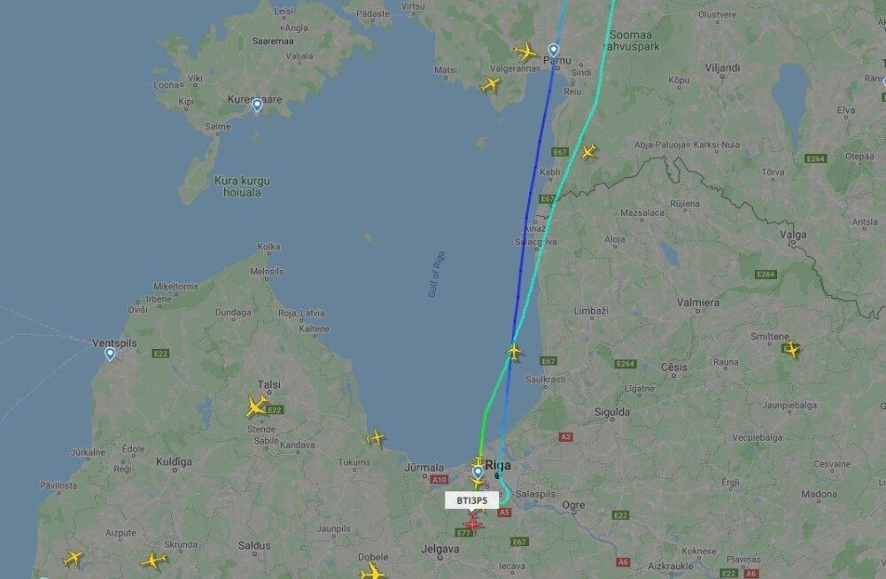 AirBalticu lennuk keeras tehniliste probleemide pärast Eesti kohal otsa ringi
