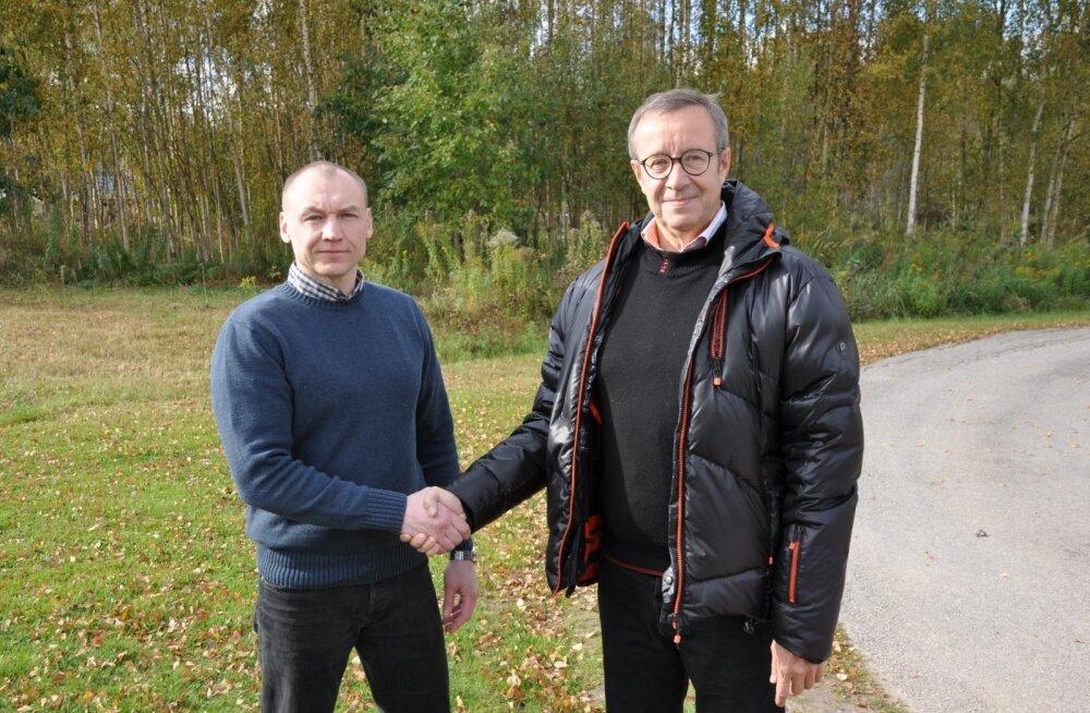 ФОТО: Президент Ильвес встретился с Эстоном Кохвером
