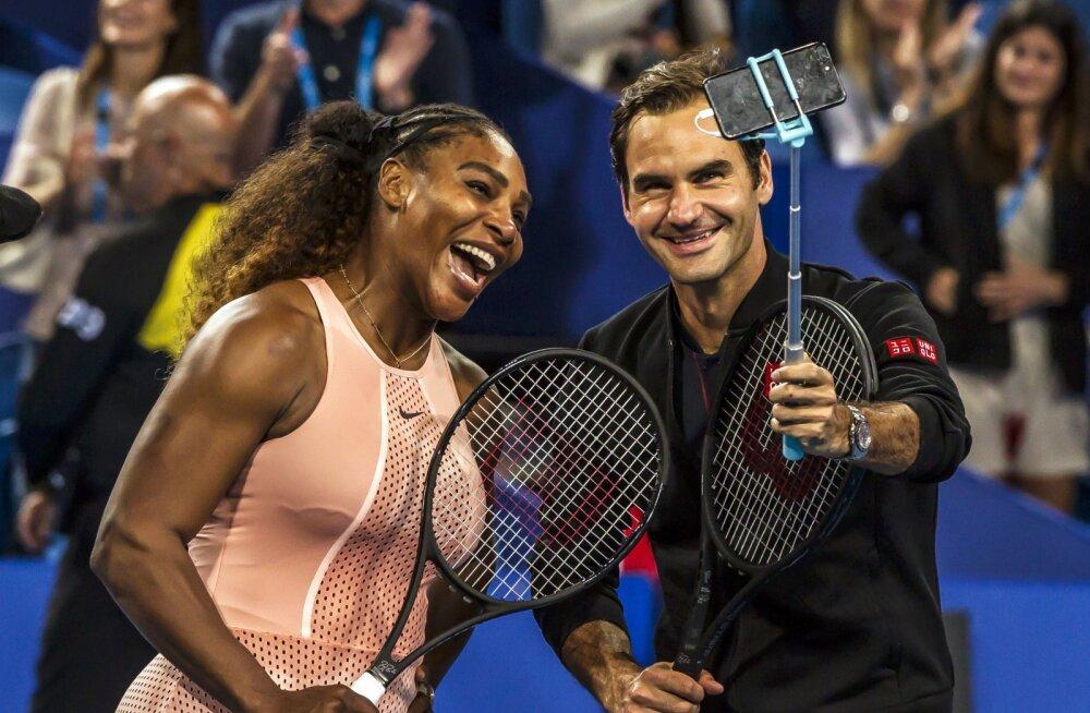 Serena Williamsi ja Roger Federeri vastasseisus jäi peale Federer