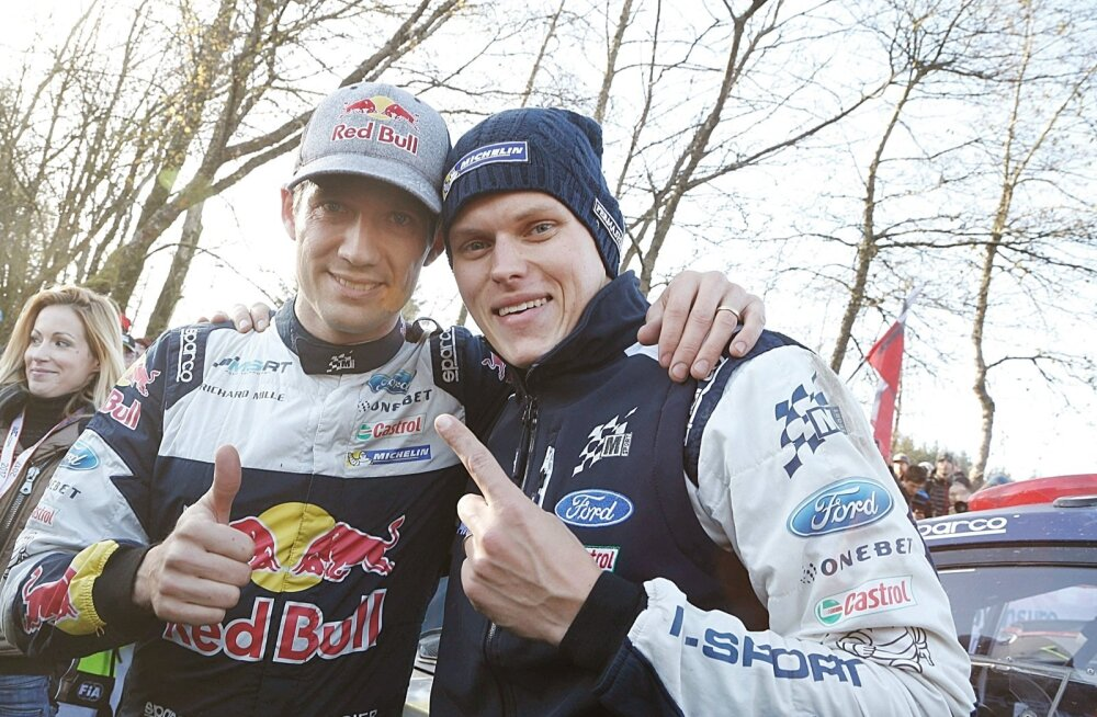 Ott Tänak (paremal) andis oma panuse, et Sébastien Ogier tuleks tänavu maailmameistriks. Järgmisel hooajal on saarlasel juba endal suured plaanid.