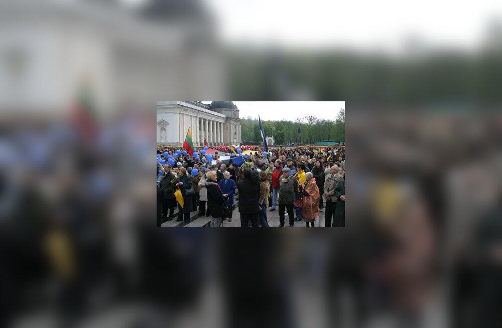 Leedu, meeleavaldus Eesti toetuseks, Balti kett