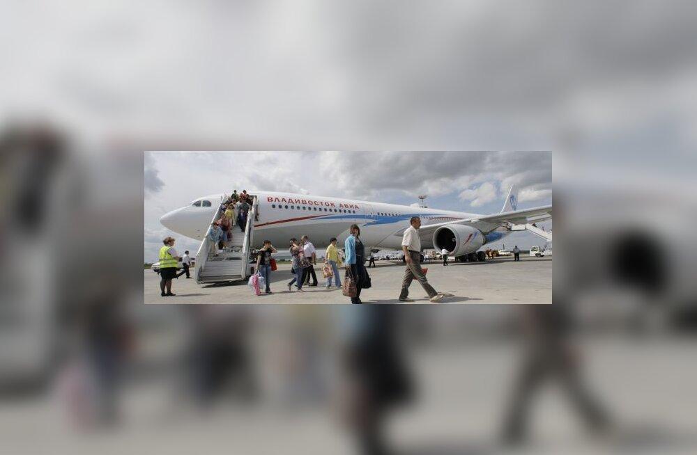 Airbus lendas viis päeva koos laibaga ringi