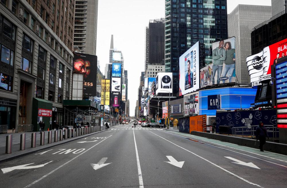 Коронавирус превратил Нью-Йорк в город-призрак