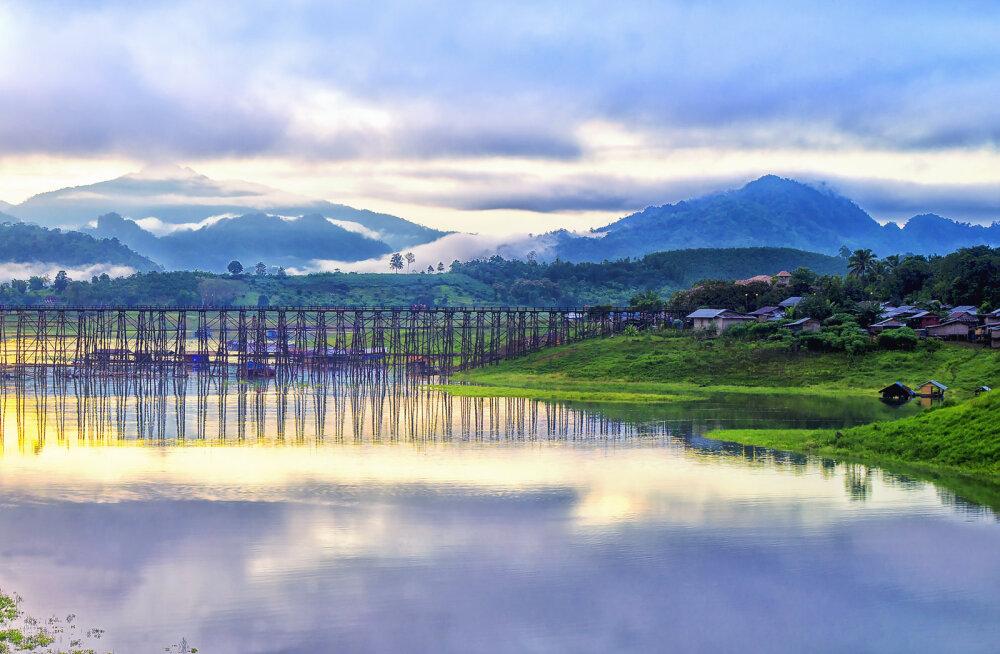Kanchanaburi linn maailmakuulsa Kwai ääres