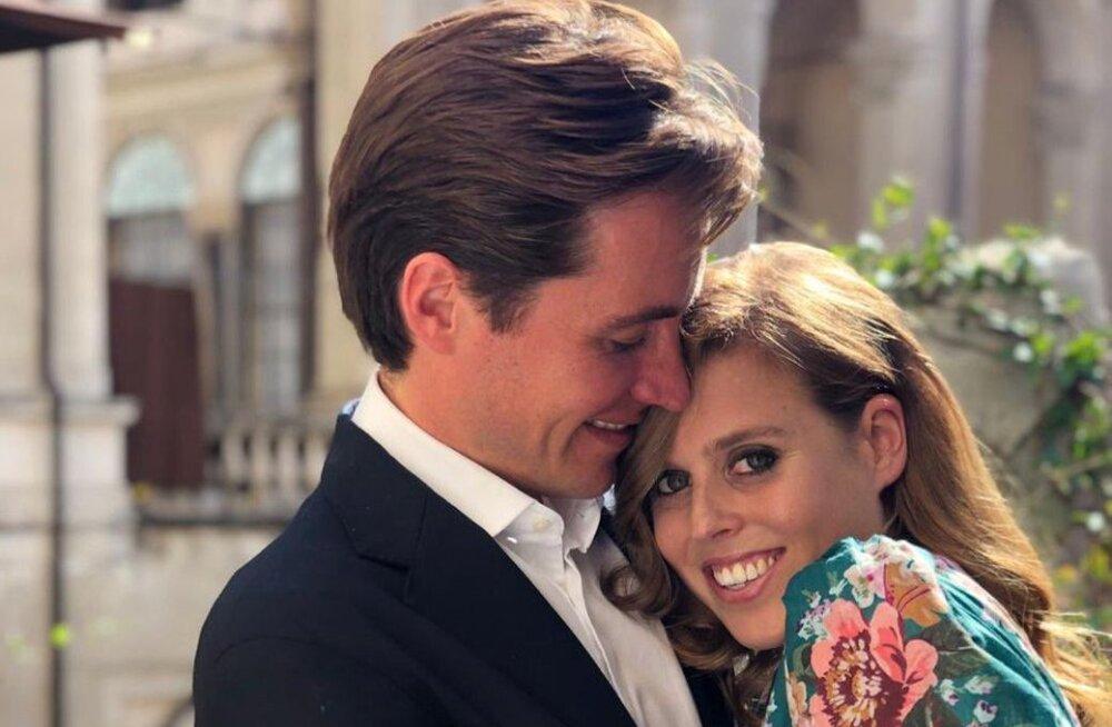Üllatus! Printsess Beatrice abiellus salaja: paari tuli õnnitlema ka koroonahirmus kuninganna