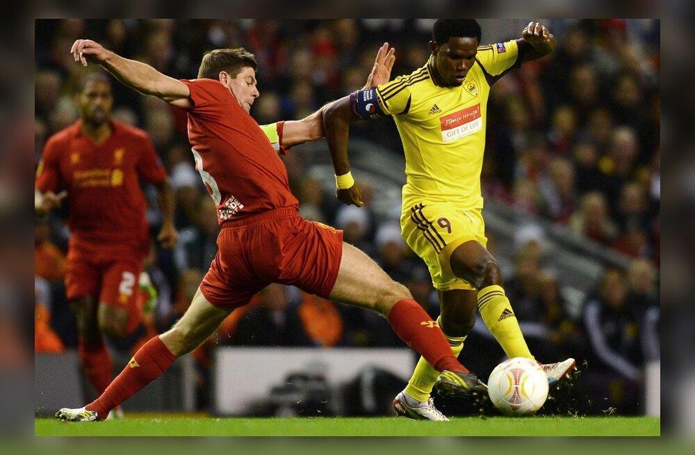 Steven Gerrard, Samuel Eto`o