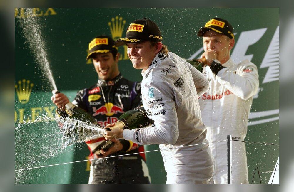 Esikolmik Rosberg, Ricciardo ja Magnussen
