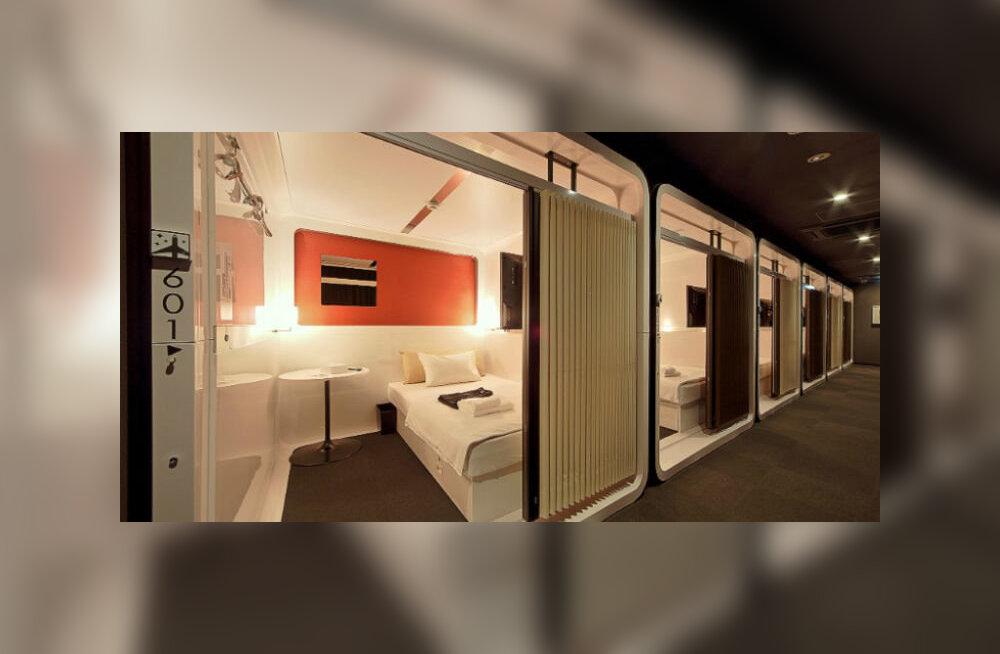 В Японии набирают популярность роскошные капсульные отели