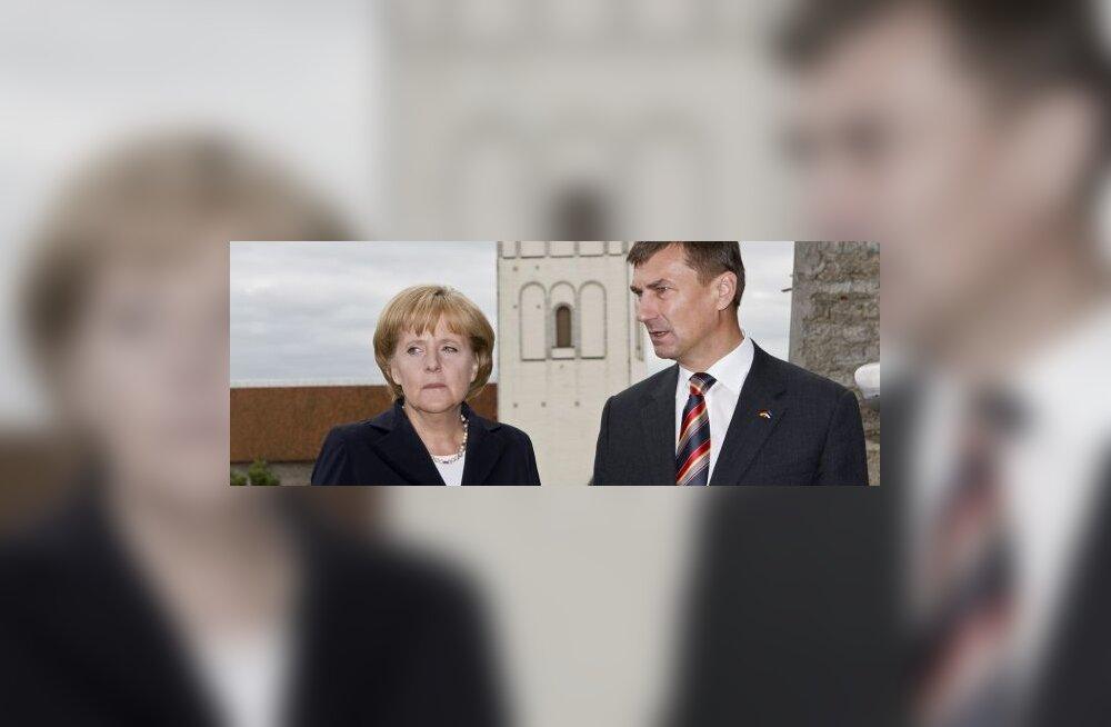 Merkel: eurotsooni siseprobleemid ei takista Eesti liitumist