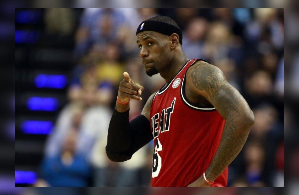 LeBron James püstitas NBA-s hiilgava rekordi