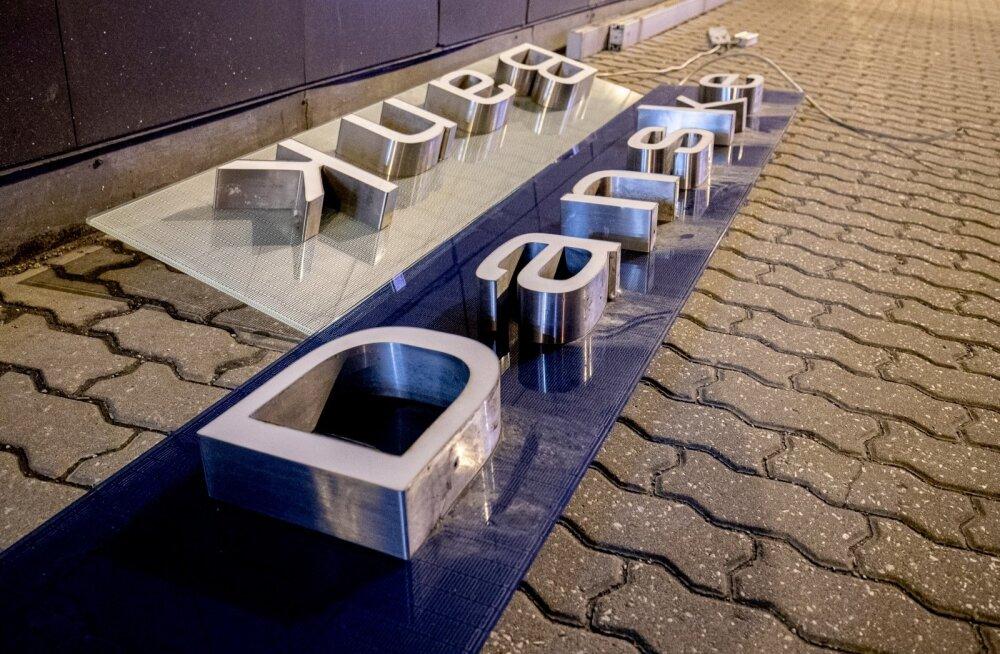 Danske bank sildid eemaldati öösel