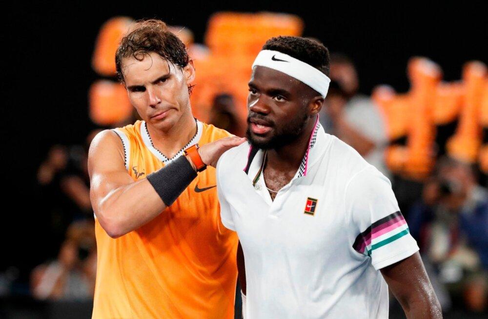 Rafael Nadal alistas veerandfinaalis Frances Tiafoe.