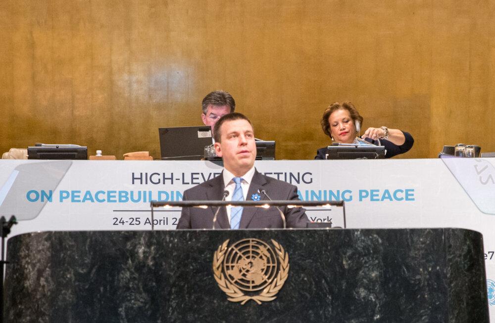 Ратас в ООН: наша главная цель — предотвращать конфликты и кризисы