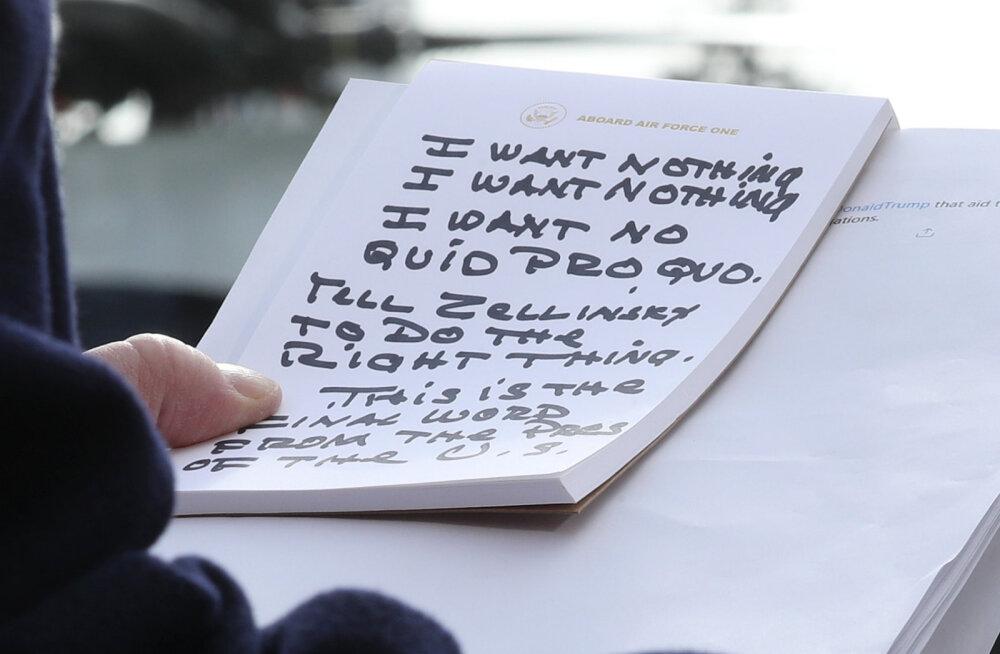 KUULA | Foto Donald Trumpi märkmetest on andnud inspiratsiooni vähemalt kolme laulu valmimiseks