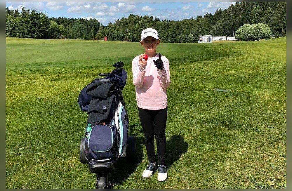 9-aastane golfitüdruk lõi Otepääl hole-in-one'i