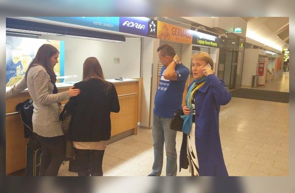 """Seda fotot jagas Tallinna lennujaam 8. novembril, päev pärast Estonian Airi hingusele minekut oma sotsiaalmeedia kontol selgitusega: """"Seni oleme lennujaamas näinud üsna vähe lennukompaniide juhte isiklikult reisijate probleeme lahendamas. Nordic Aviationi"""