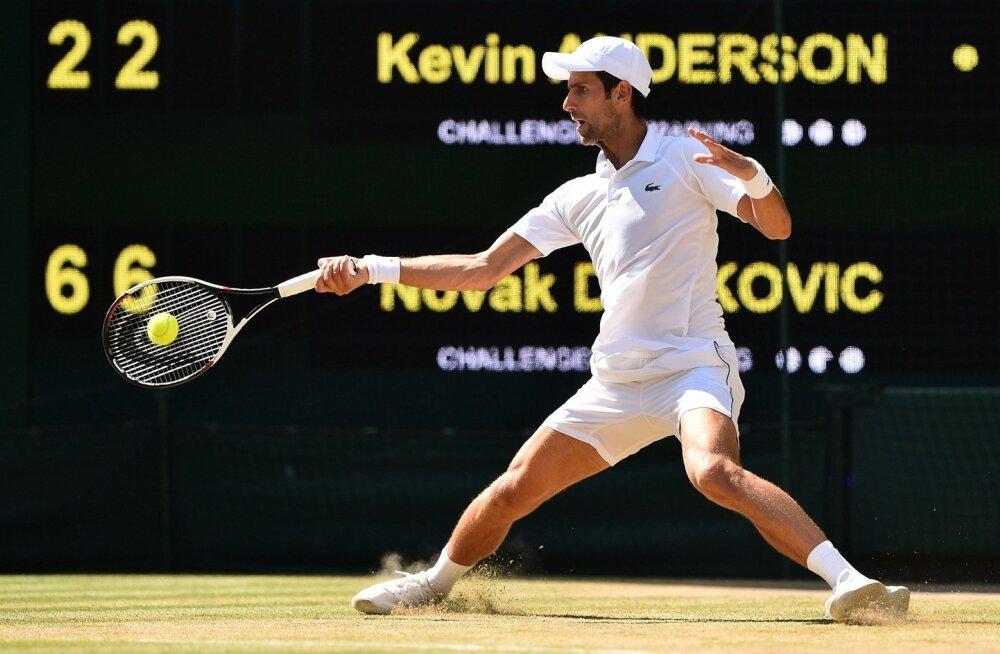 Novak Djokovic Wimbedoni finaalis