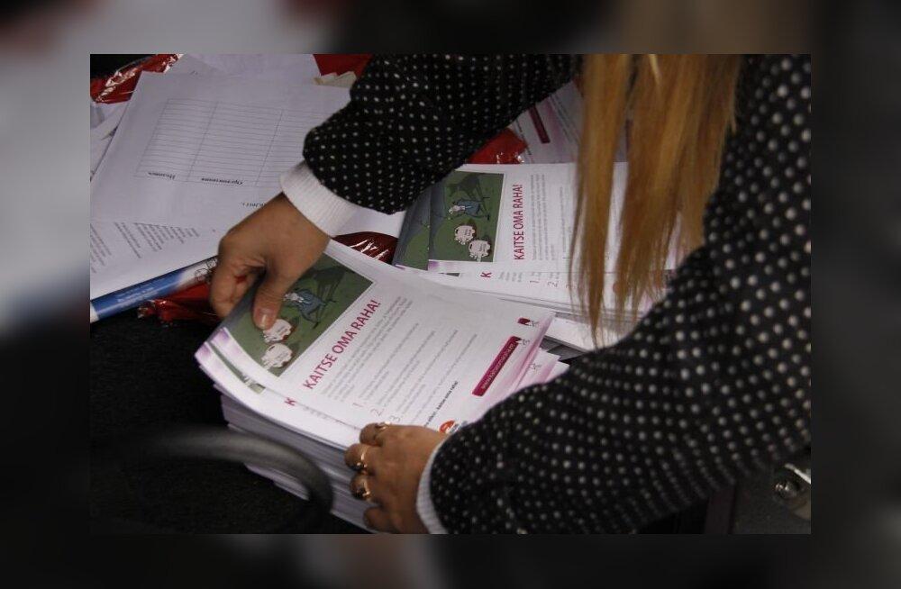 ФОТО: Профсоюзы в ходе акции протеста «забыли» Кохтла-Ярве
