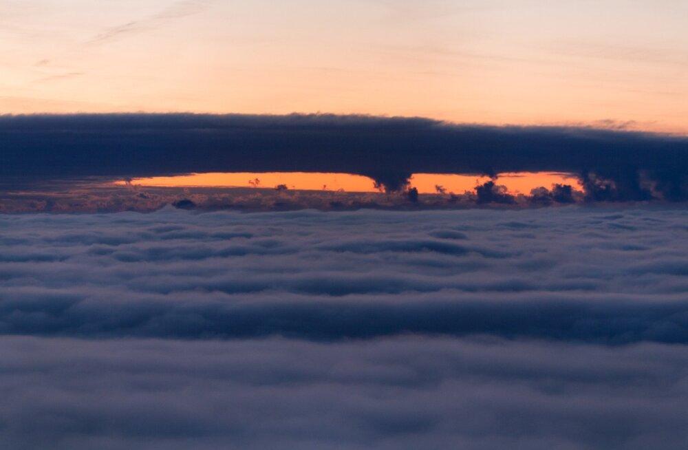 Talvised pilved Teletornist vaadatuna.