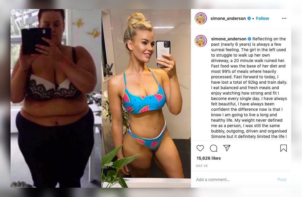 FOTO | Ei tunne äragi! 92 kg kaotanud naine demonstreeris oma uskumatut muutumist