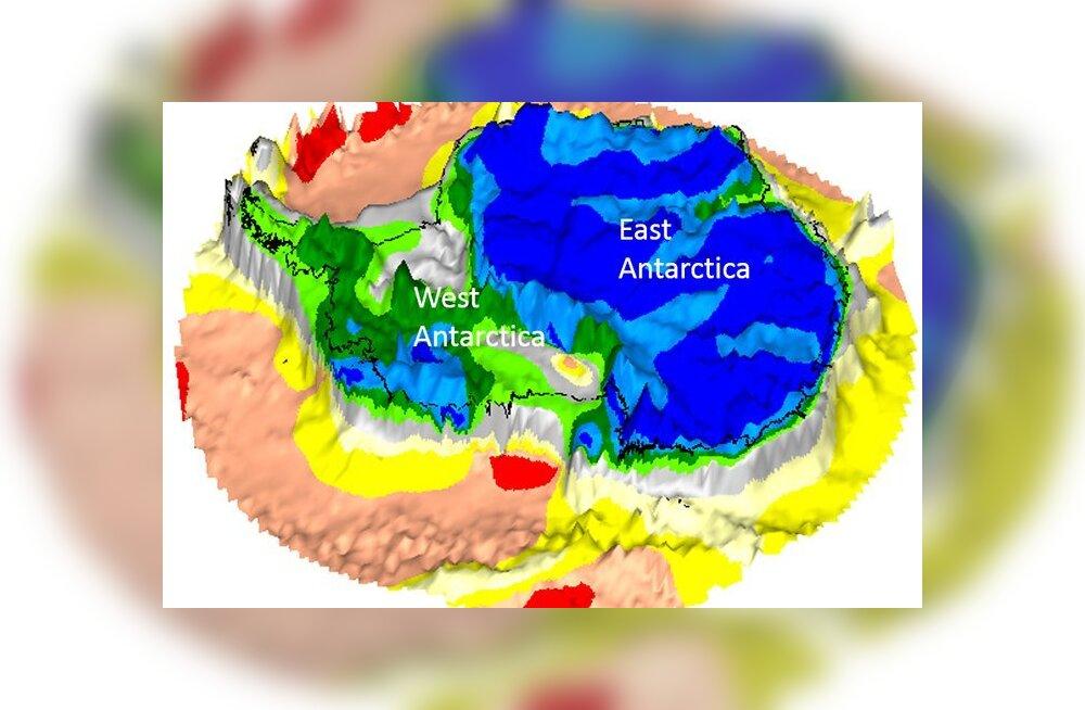 Antarktika all peituvad iidsete mandrite riismed