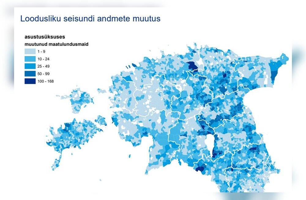 Maatükkide loodusliku seisundi andmed said maakatastris iga-aastase värskenduse