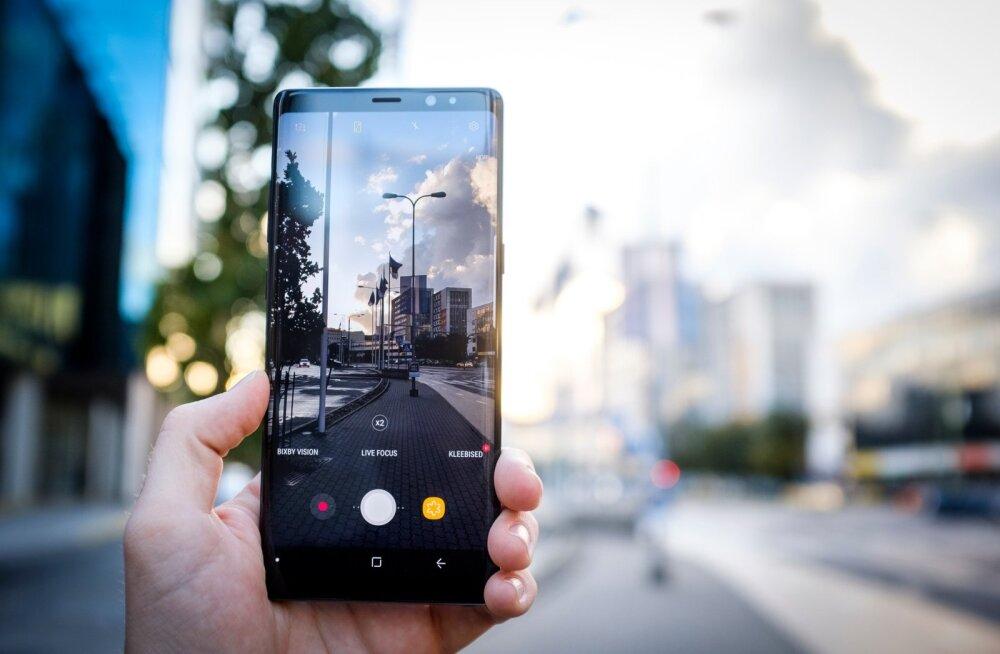 Note 8 on suurepärase kaameraga telefon ning selle peaaegu kogu esipaneeli täitev ekraan teeb pildistamise ja kadreerimise eriti mugavaks.