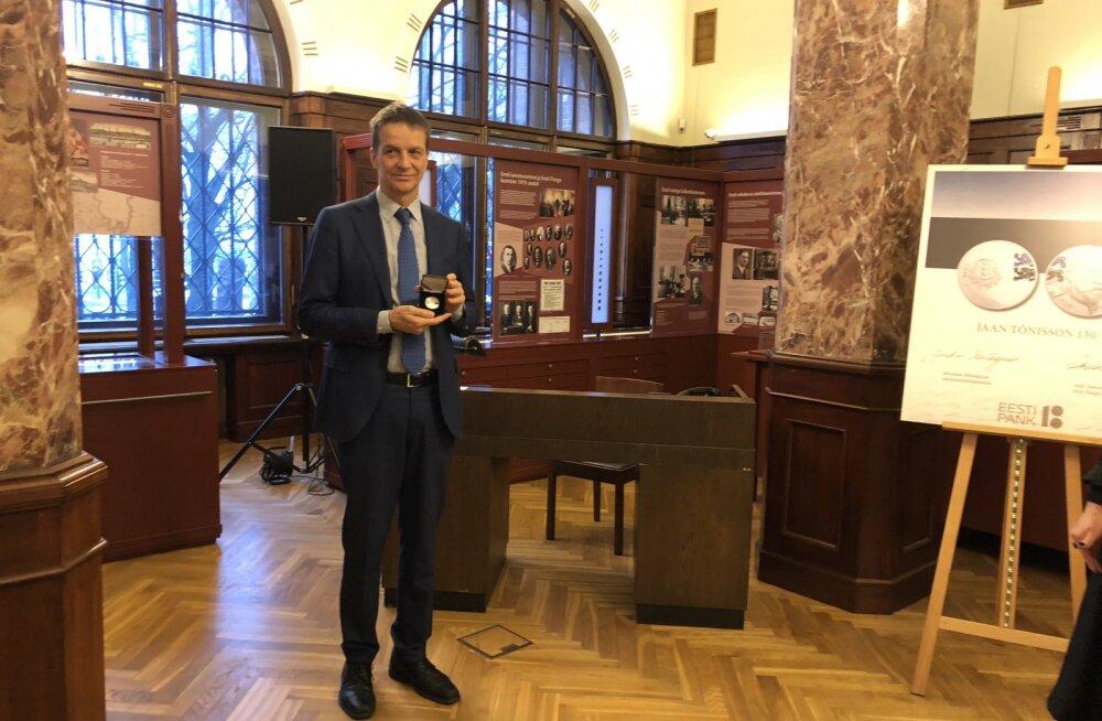 Ardo Hansson: Jaan Tõnissoni meenemünt on läbi aegade üks ägedamaid