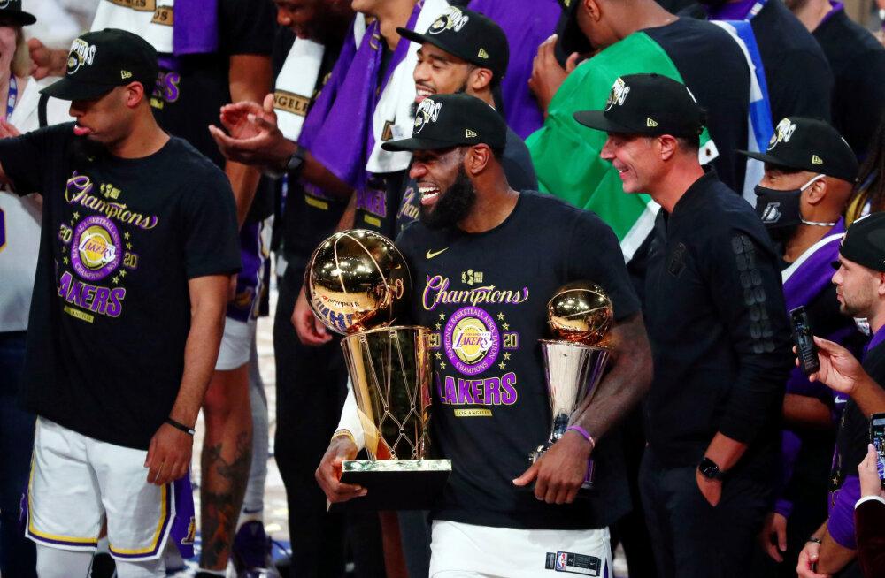 VIDEO | LeBron James vedas Lakersi NBA meistriks, otsustav võit tuli veenvalt
