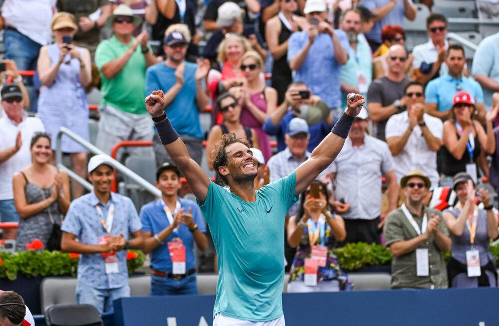 VIDEO | Rafael Nadal Montreali turniiri finaalis vastasele võimalust ei jätnud
