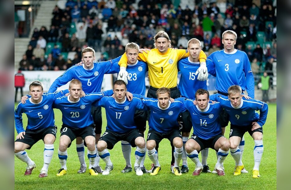 Eesti jalgpallikoondis kohtumises Sloveeniaga
