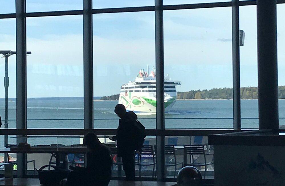 Tallinki laev Helsingis kell 10.10. Laev pidi saabuma 9.30.