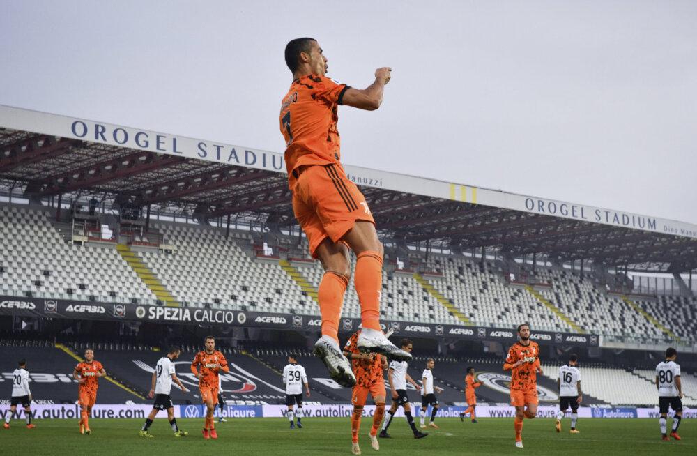 Koroonaviirusest jagu saanud Cristiano Ronaldo lõi Juventuse võidumängus kaks väravat