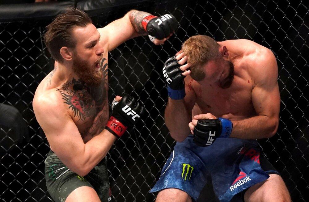 Conor McGregor (vasakul) ei andnud Donald Cerronele erilist võimalust.