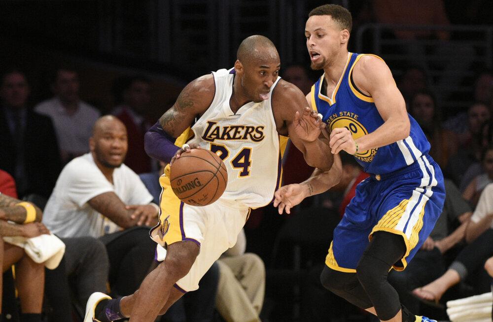 VIDEO: Halvim alistas parima: Lakers ja Bryant olid üle Curryst ja Warriorsist