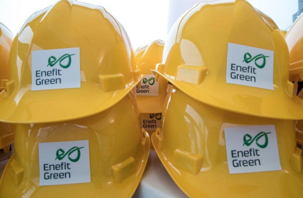 Enefit Greeni logoga kiivrid