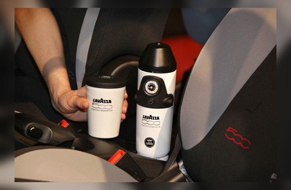ВИДЕО: В кроссовер Fiat 500L встроят кофемашину