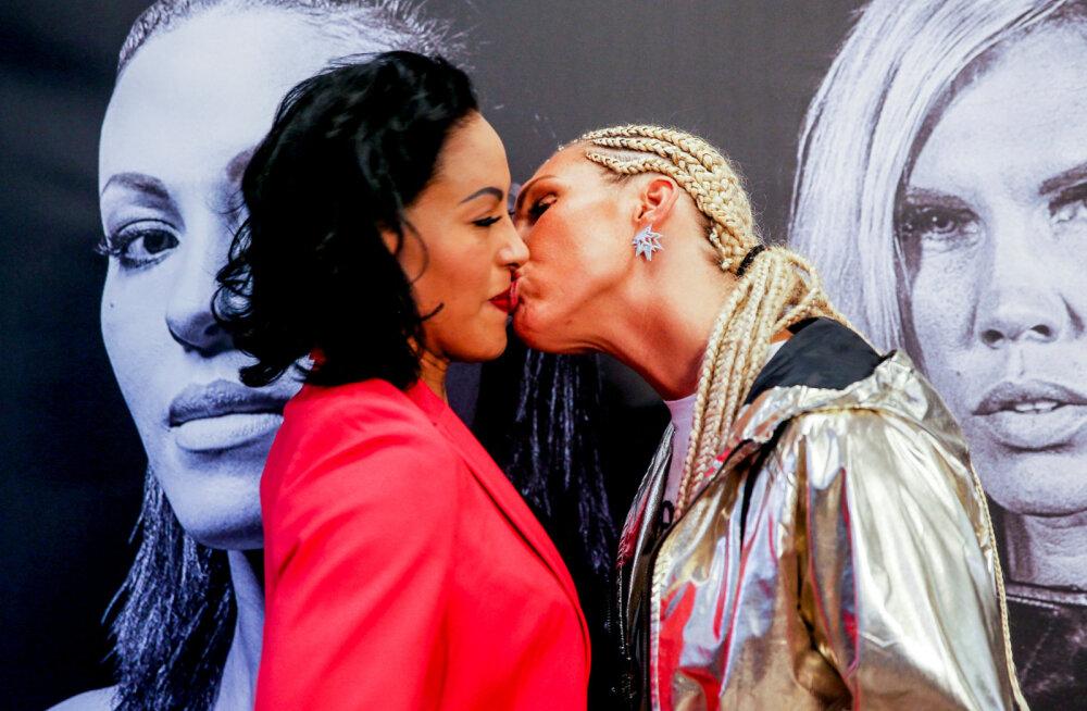 VIDEO | Rootsi naispoksija üllatas pressikonverentsil Norra konkurenti suudlusega