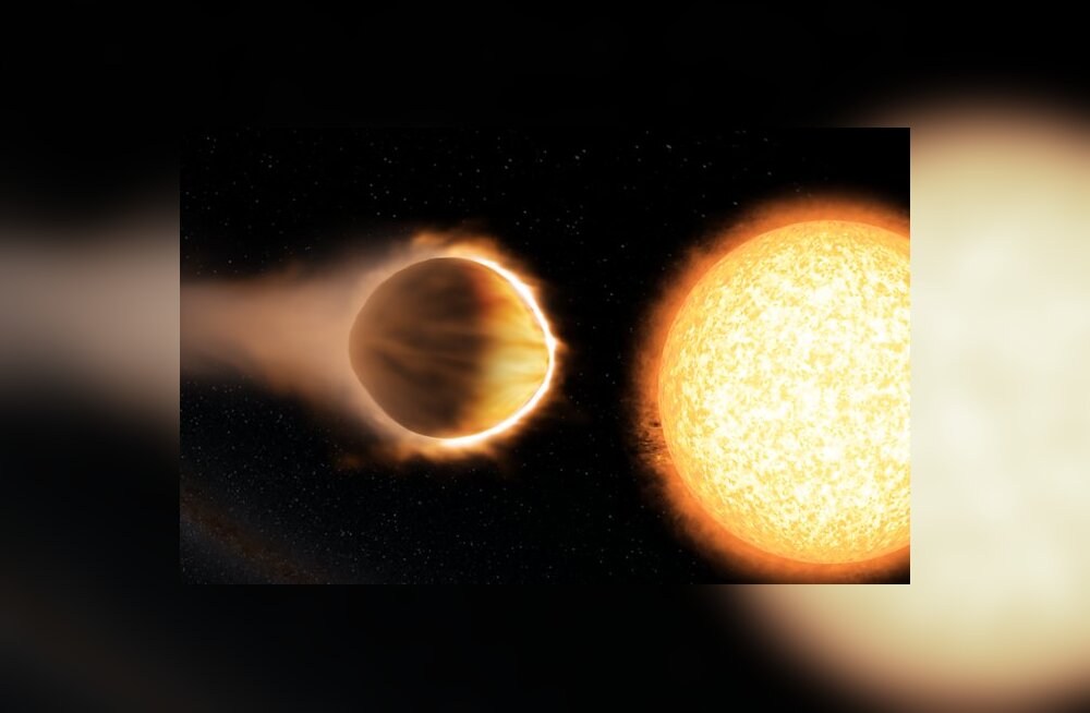 WASP-121b kunstniku nägemuses. Autor/allikas: Engine House VFX/Bristoli teaduskeskus/Exeteri ülikool