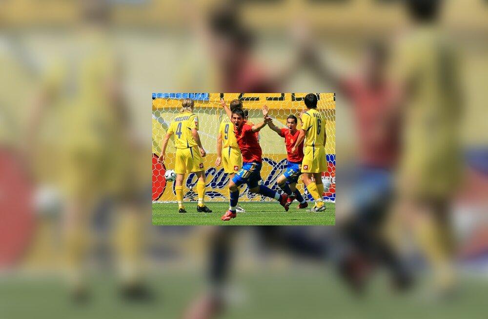 David Villa on löönud Hispaania teise värava Ukraina vastu