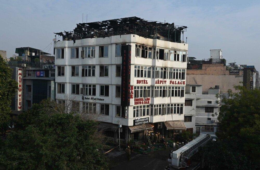New Delhi hotellitulekahjus hukkus 17 inimest