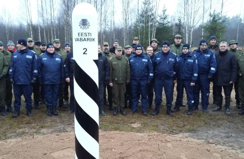 Eesti-Vene kontrolljoonele paigaldati esimene piiripost