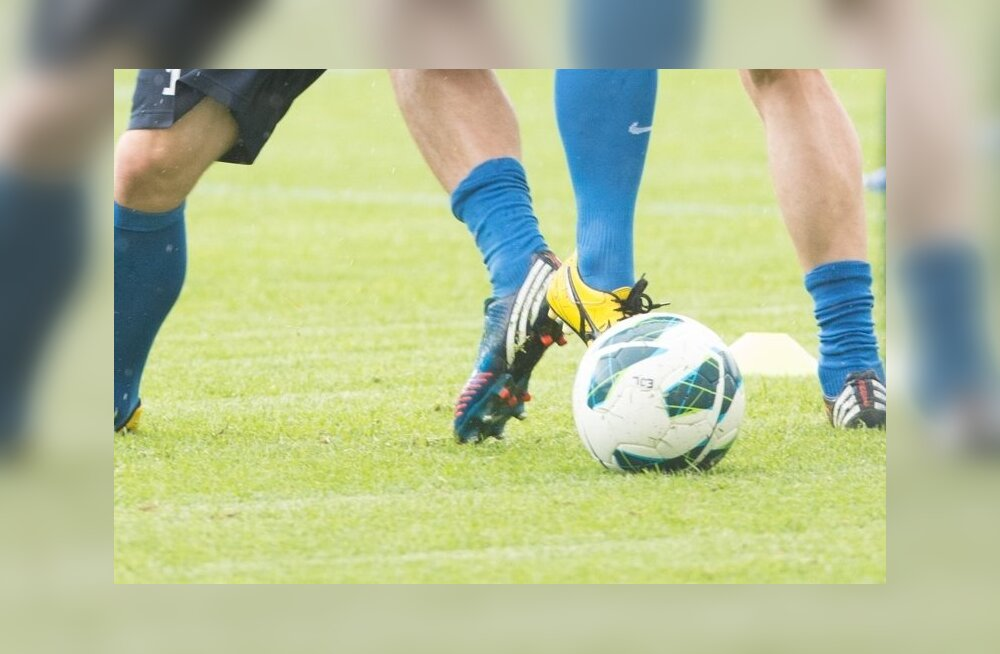 Eesti jalgpallikoondise treening enne sõpruskohtumist Kõrgõzstaniga