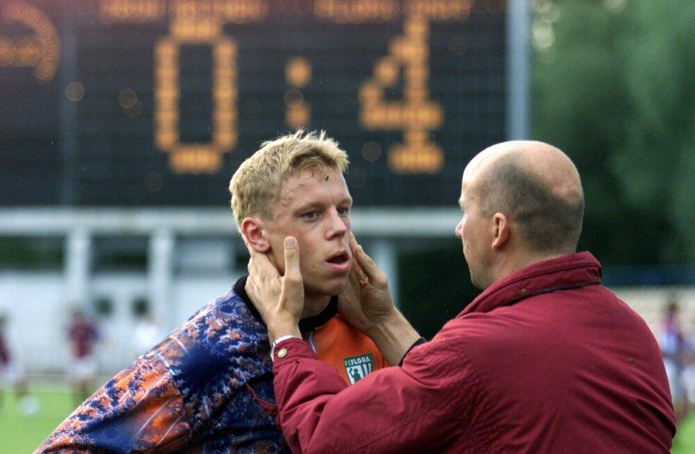 FOTOD | Meenuta Tallinnasse naasva Iron Maideni kunagist kurikuulsat sõpruskohtumist kohalike jalgpalluritega, mis ähvardas Mart Poomi Inglismaa karjääri lõpetada